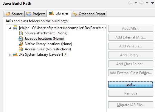 Developing JEB plugins in Java with Eclipse – JEB Decompiler