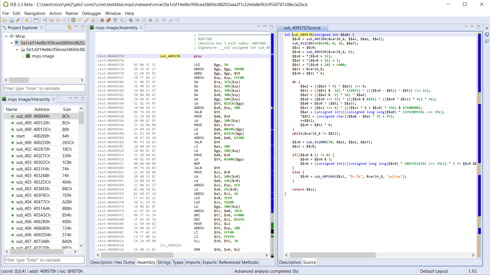 Decompilation – JEB Decompiler in Action